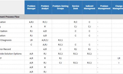 RACI Chart - Problem Management Process